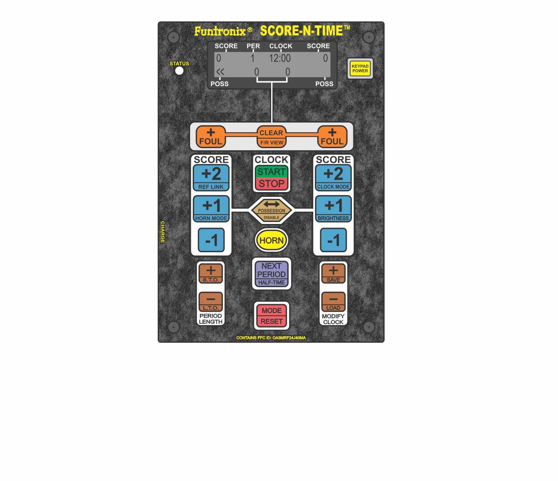 SNT-1000M folding portable scoreboard wireless keypad