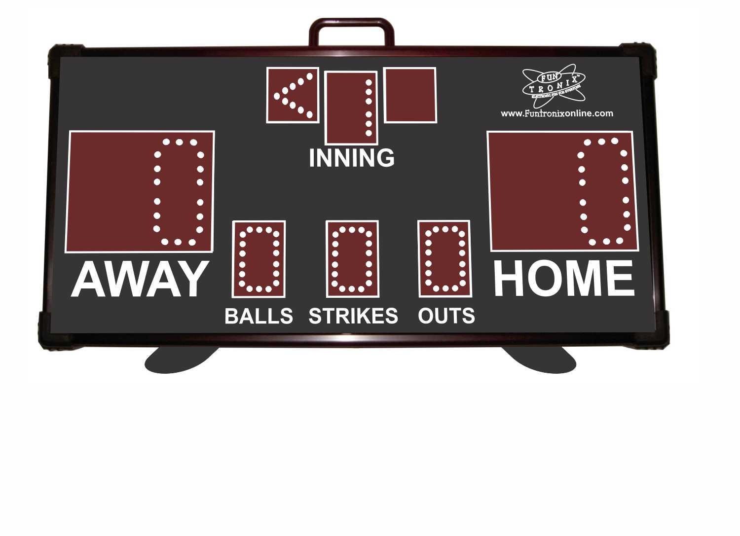Portable Wireless Baseball Scoreboard Front View