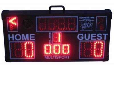 Multisport Portable Scoreboard in baseball mode
