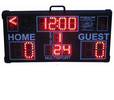 Multisport Portable Scoreboard with keypad folded