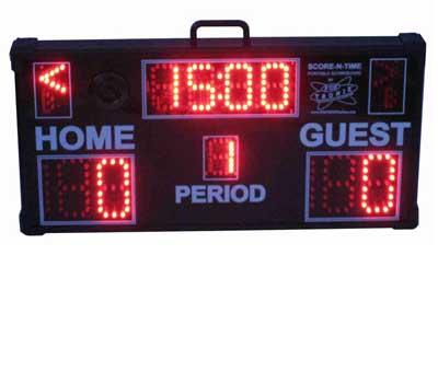 Multisport Portable Scoreboard with soccer folded