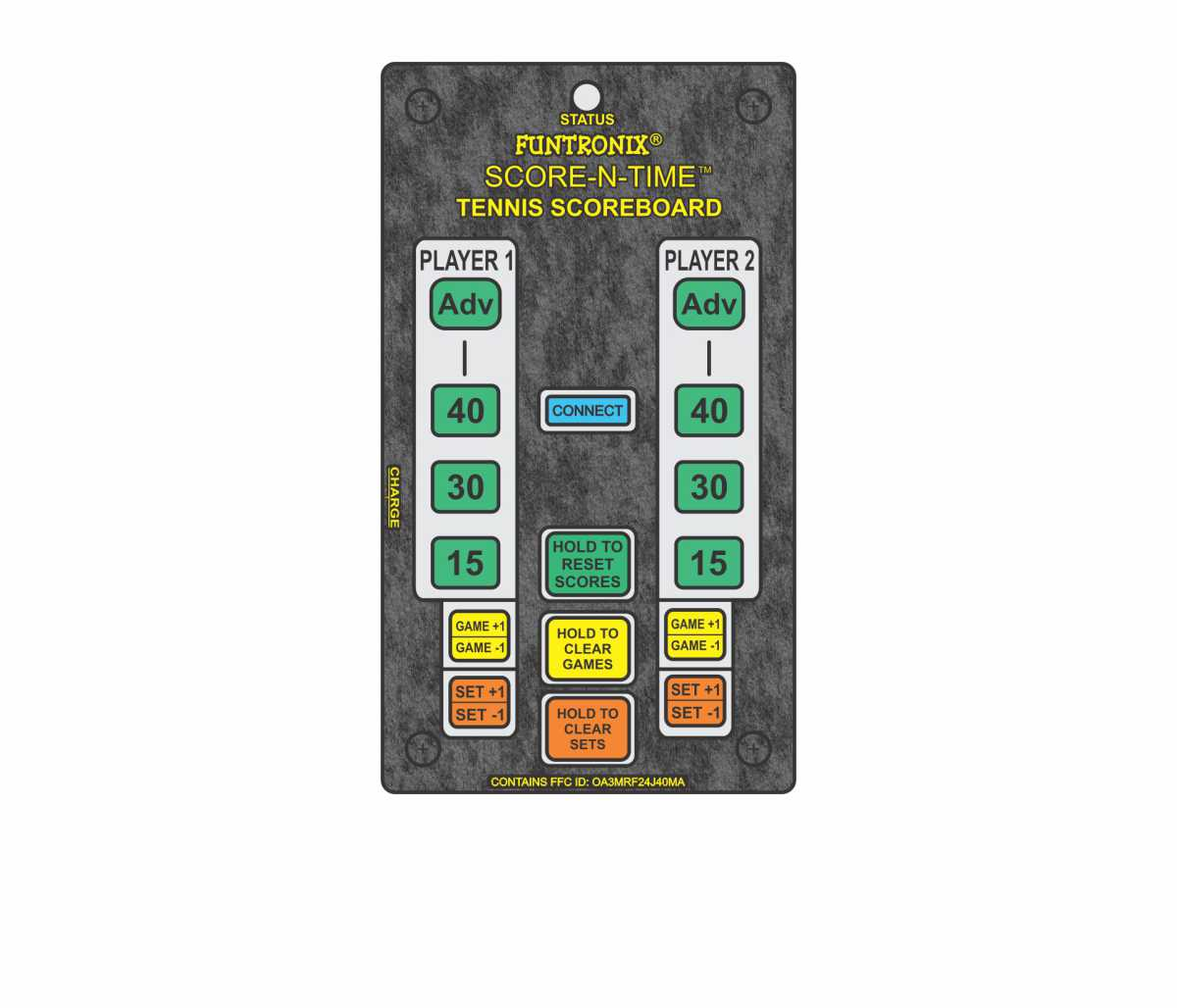 Portable Tennis Scoreboard Keypad