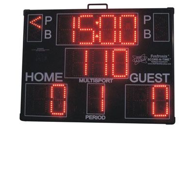 Multisport Portable Scoreboard football mode