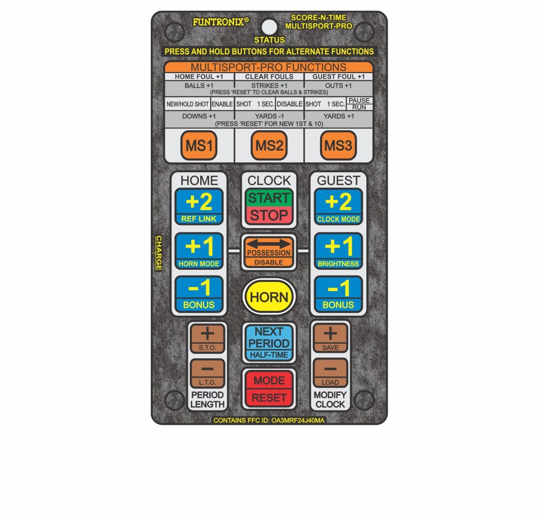 Multisport Portable Scoreboard with Wireless Keypad