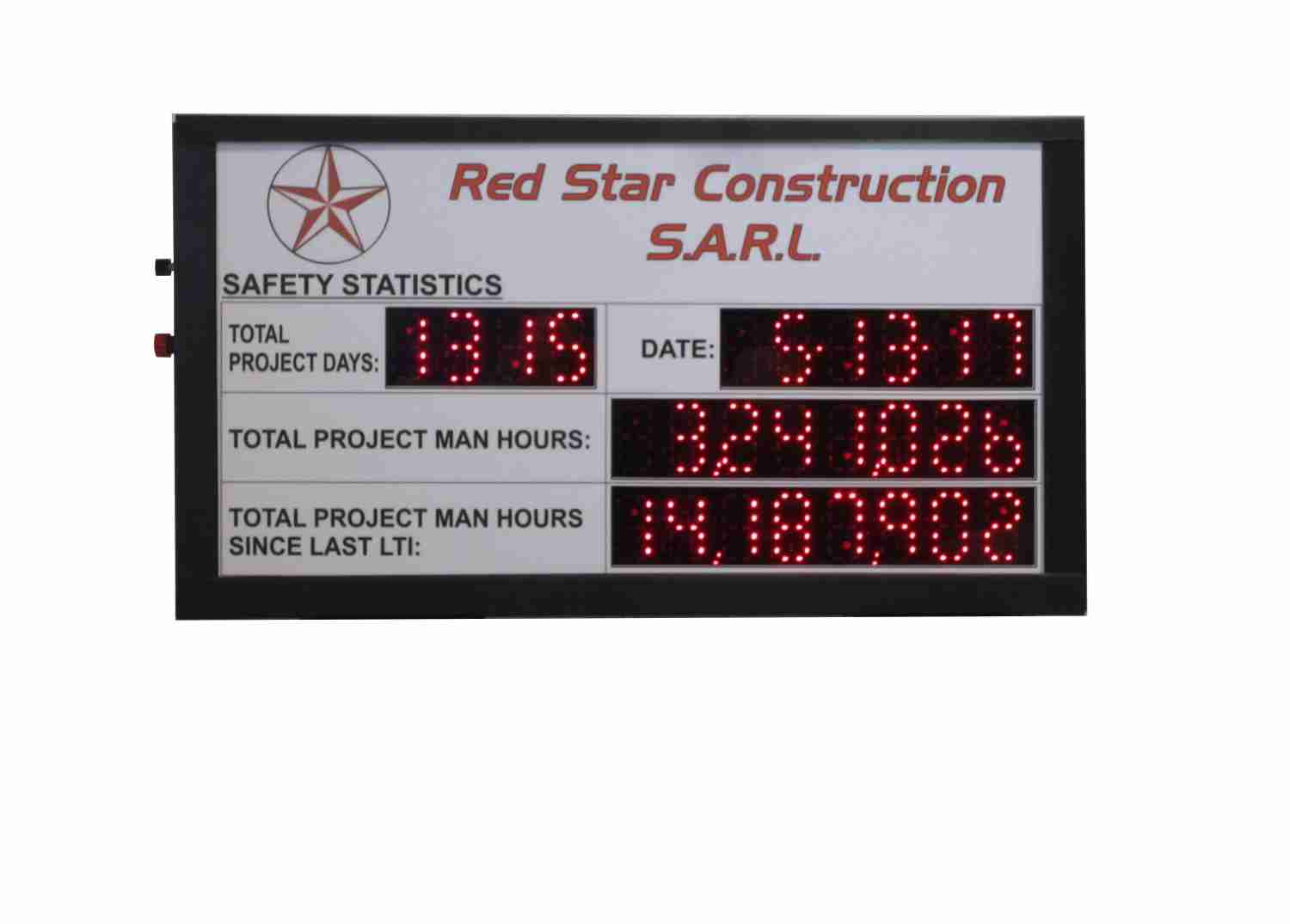 Red Star Construction Scoreboard