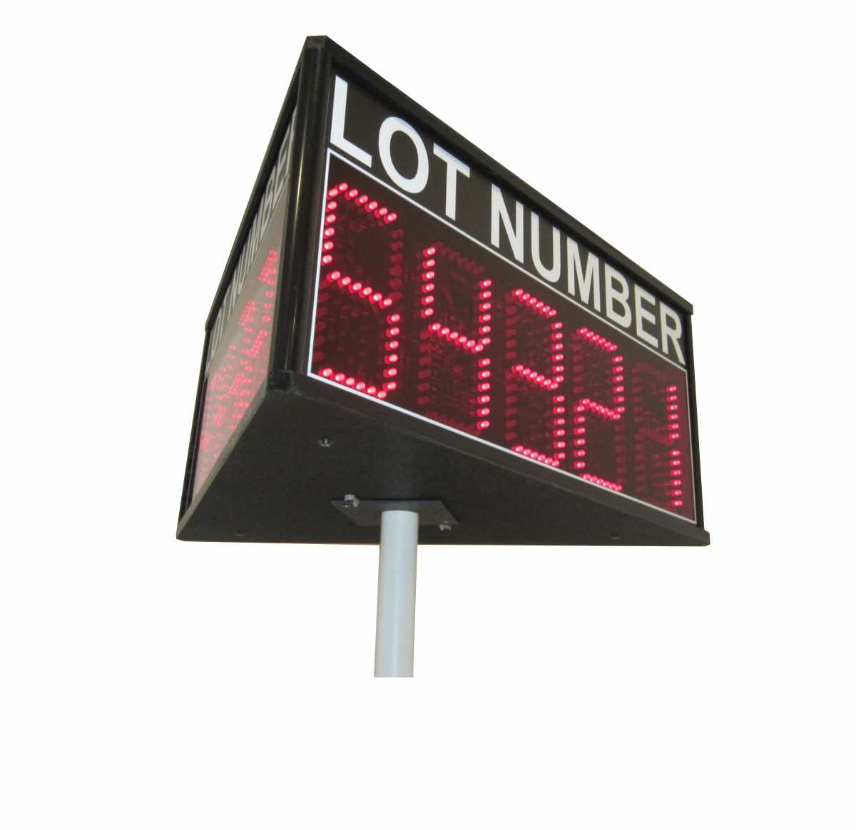 Three-Sided Auction Lot Number Sign