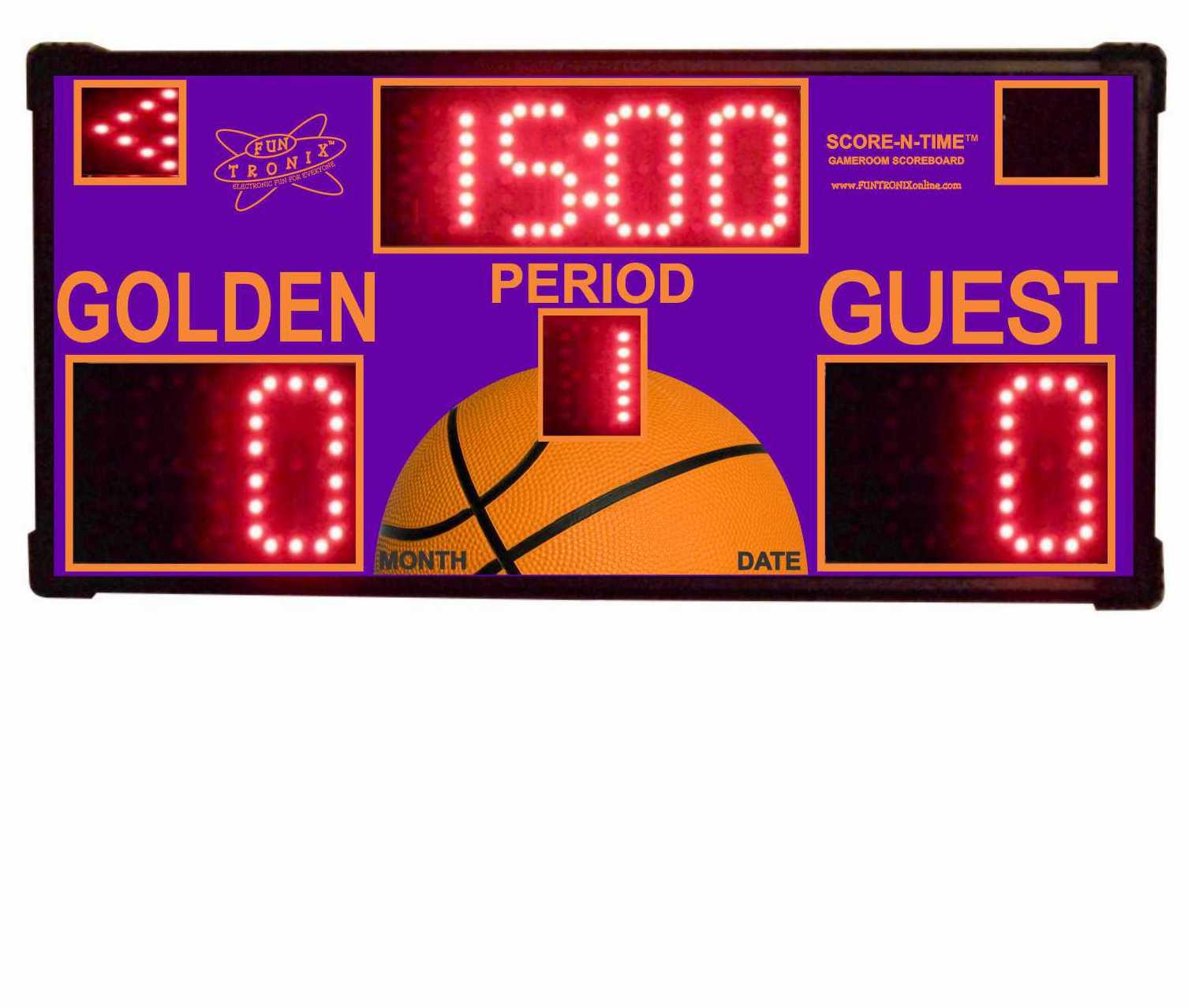 Golden Custom Scoreboard