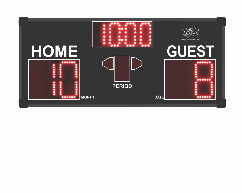 Game Room Scoreboard in clock mode